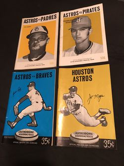 Vintage Houston Astros 1971 & 1973 official program guide & scorecard Combo for Sale in San Angelo,  TX