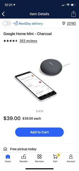 Google home mini . In 20$ for Sale in McLean, VA