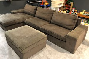IKEA sectional sofa with ottoman and storage for Sale in Glenview, IL
