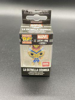 La Estrella Cosmica Marvel Collector Corps Exclusive Lucha Libre Keychain Funko for Sale in Peoria,  IL
