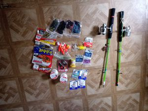 2 fishing poles bait and tackle for Sale in Columbus, OH