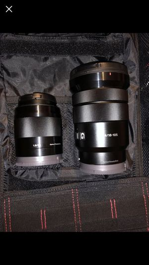 Sony A7riii with 50mm f1.8 and 18-105mm f4 powered zoom for Sale in Germantown, MD