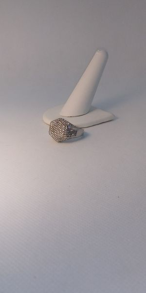 Sizes (9 or 10 )14ktgf iced out hip hop pinky ring for Sale in Garfield Heights, OH