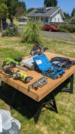Various power tools + garage full of more for Sale in Portland, OR