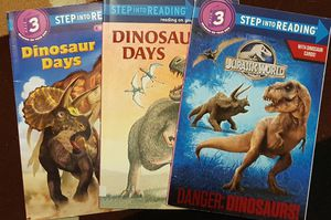 Dinosaurs reading books level 3 $5 for all for Sale in Mansfield, TX
