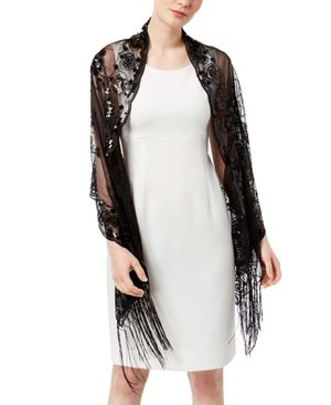 INC Women Sequined Fringe Wrap Black for Sale in Norfolk, VA