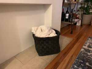 Knit throw basket for Sale in South Pasadena, CA