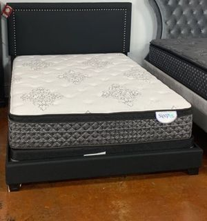 Black Queen Bed Frame with Mattress Set!! Brand New Free Delivery for Sale in Chicago, IL