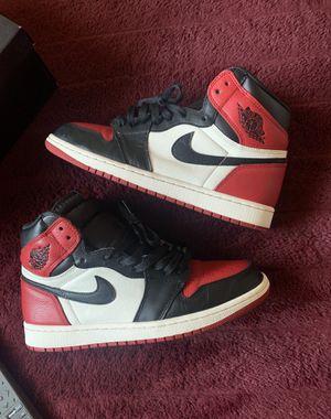 """Air Jordan 1 """" Bred Toe """" for Sale in San Jose, CA"""