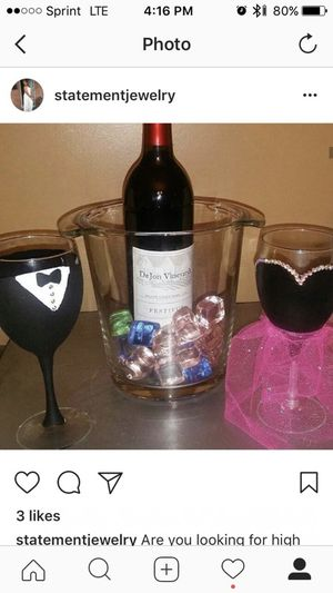 Hand painted wine glasses for Sale in Baltimore, MD