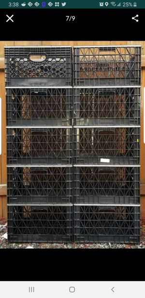 Storage containers and milk crates for Sale in Puyallup, WA