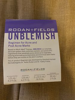 Rodan & fields Unblemish Skincare Kit Sealed Box /ACNE / TEEN / SKINCARE for Sale in Baldwin,  NY