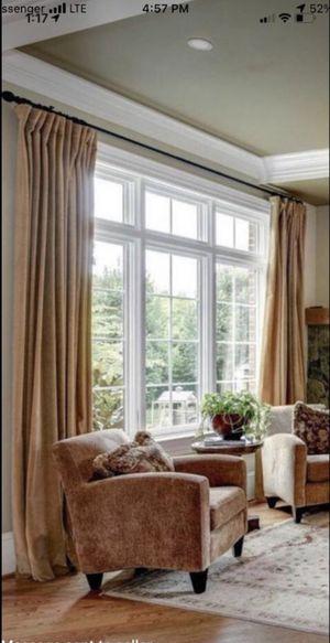 6 Restoration Hardware Velvet drapes for Sale in Fairfax, VA