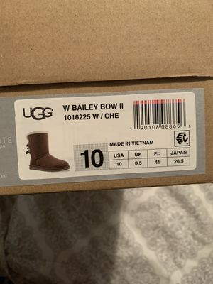 BAILEY BOW UGGS SIZE 10US for Sale in Haines City, FL