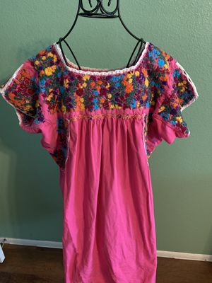 Hot pink & White Mexican style dresses for Sale in San Antonio, TX
