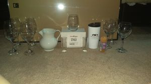 Pitcher, canter, shot glass, wine glass, coffee mug, tumbler, kitchen for Sale in Marietta, GA