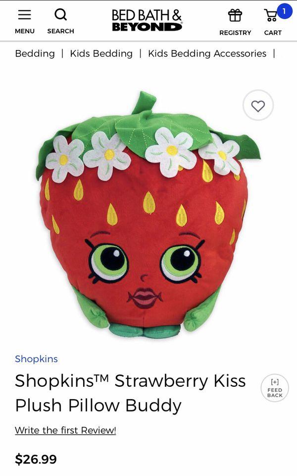 Shopkins Plush Pillow Buddy Strawberry - excellent