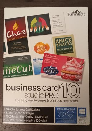 Summitsoft Business Card Studio Pro 10 Software for Sale in Arlington, TX