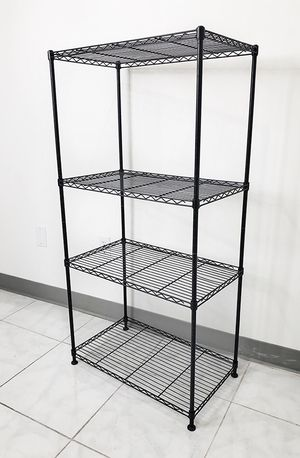 "$35 NEW Small Metal 4-Shelf Shelving Storage Unit Wire Organizer Rack Adjustable Height 24x14x48"" for Sale in Whittier, CA"