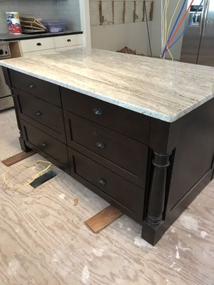Kitchen Island - custom cabinets/top for Sale in Gig Harbor, WA