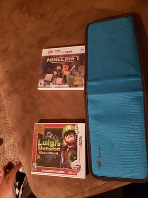 Nintendo 3DS Minecraft 3DS edition and Luigis Mansion Dark Moon for Sale in Lithia, FL