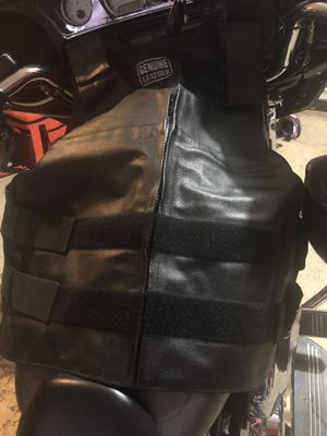 Genuine Leather Motorcycle Vest for Sale in Lithonia, GA
