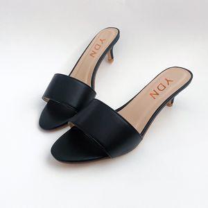 size 9 YDN Women Summer Open Toe Low Heel Sandals Slide On Cute Dress Slippers for Sale in Las Vegas, NV