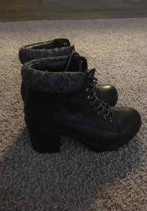 Black Leather Lace Boots for Sale in Smyrna, GA