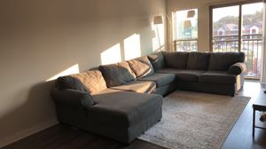 Sectional for sale. Dresser and nightstand free with couch. for Sale in Smyrna, GA