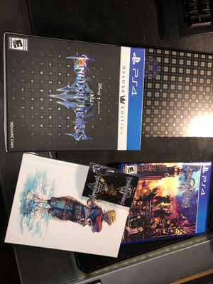 Kingdom Hearts 3 Deluxe Edition PS4 for Sale in East Haven, CT