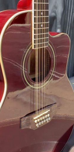 New 12 String Burgundy Cutaway Acoustic-Electric Guitar Combo Guitarra Requinto for Sale in South Gate,  CA