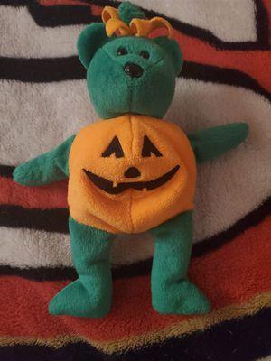 2003 tricky pumpkin bear beanie baby for Sale in Fontana, CA