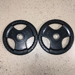 New Rubber Coated 45 Lb Iron Olympic Weight Barbell Plate Set for Sale in San Diego,  CA