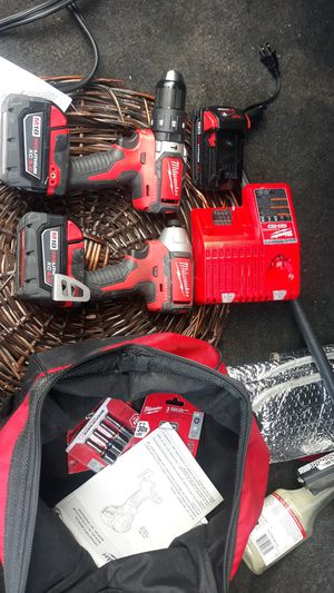 Milwaukee 18v drill and impact driver set for Sale in Garden Grove, CA