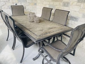 Outdoor dining table and chairs for Sale in Austin, TX