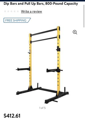 HulkFit Multi-Function Adjustable Power Rack Exercise Squat Stand with J-Hooks, Spotter Arms Dip Bars and Pull Up Bars, 800-Pound Capacity for Sale in Bakersfield, CA