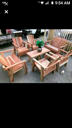 Teak wood furniture Adirondack chairs porch chairs porch seating conversational set for Sale in Los Angeles, CA
