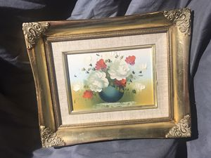 Little Vintage painting in gorgeous gold frame for Sale in Madera, CA