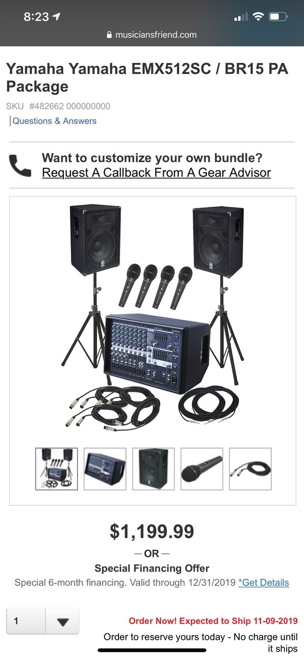 Yamaha Yamaha EMX512SC / BR15 PA Package