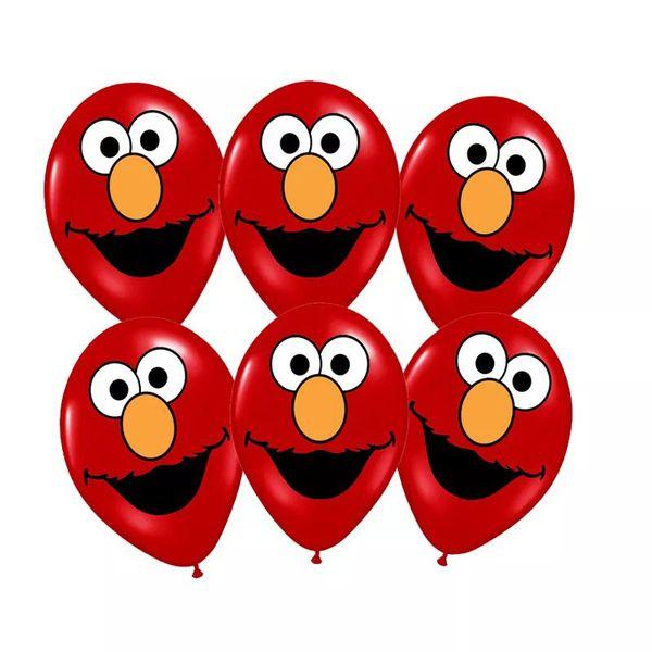 Elmo Sesame Street 11pcs Foil/Latex Balloons.