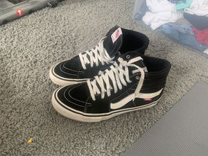 Black and white vans size 10 for Sale in Indianapolis, IN