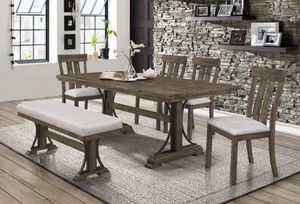 Quincy Rustic Finish 6 Piece Dining Set for Sale in Sacramento, CA