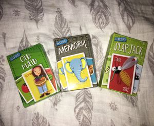 NWT Set of 3 kids card games for Sale in Norwalk, CA