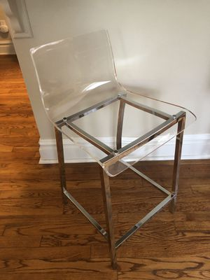 Acrylic & Chrome Counter Stool for Sale in St. Louis, MO