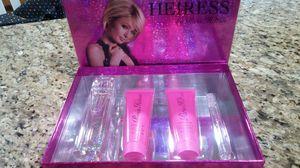 Original perfume heiress 4pcs set big size brand new always authentic by paris hilton for Sale in Bloomington, CA