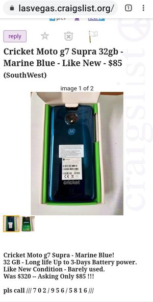 Cricket Moto g7 Supra Long Life Battery for Sale in Las Vegas, NV