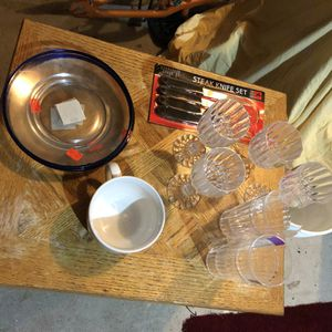 Assorted kitchen plates, cups for Sale in Attleboro, MA