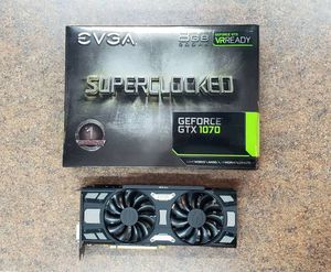 EVGA GeForce GTX 1070 SC GAMING video card 08G-P4-5173-KR, 8GB GDDR5, ACX 3.0 & Black Edition for Sale in West Fargo, ND
