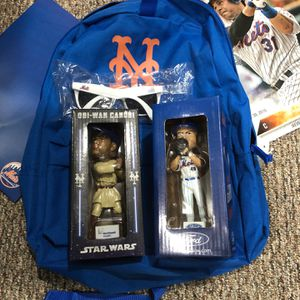 Mets Backpack Piazza deGrom Bobblehead And More - Best Offer for Sale in Denville, NJ