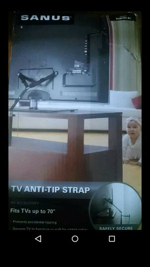 Tv up to 70 inches anti tip strap. New in box. Safety. for Sale in Affton, MO